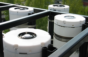 Figure 1. Several generations of GUV filter radiometers deployed at the 2005 intercomparison in Oslo, Norway.