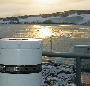 GUV-511 radiometer installed at Palmer Station, Antarctica.