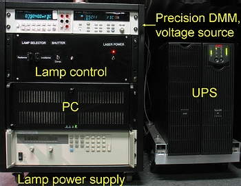[b]Figure 2[/b]: The power system for irradiance and radiance calibrations.